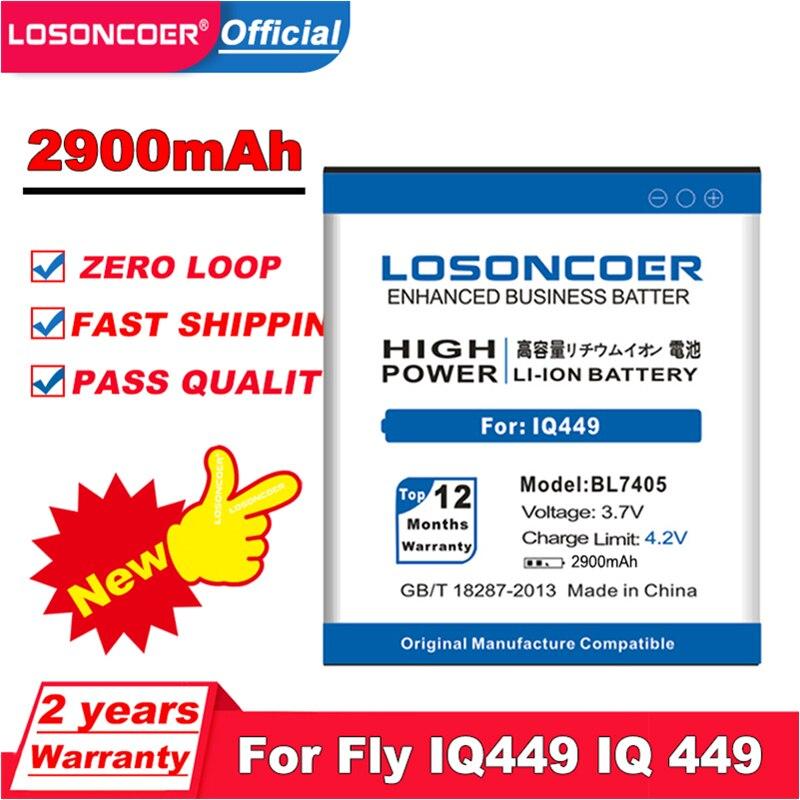 LOSONCOER 2900mAh BL7405 para volar IQ449 Iq449 BL-7405 BL 7405 de litio-batería de polímero de iones