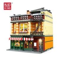 mould king streetview building blocks moc central perk with led light diy assembling model bricks childrens toys christmas gift