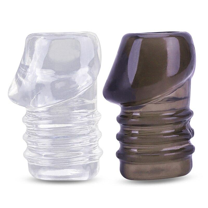 Презервативы для увеличения пениса Glans, кольцо для увеличения пениса, эрекция с задержкой эякуляции, эротические игрушки для взрослых, Мужс...