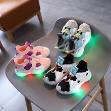 Fashion Kids Led Light Up Shoes for Girls and Boys Glowing Sneakers Girls Casual Shoes Children Boys