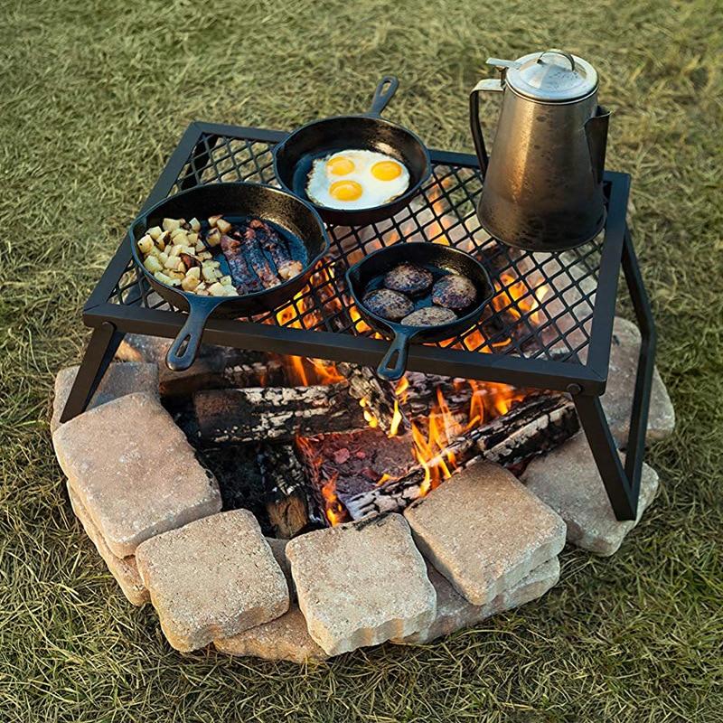 churrasqueira portatil malha ao ar livre para churrasco acampamento dobravel churrasqueira