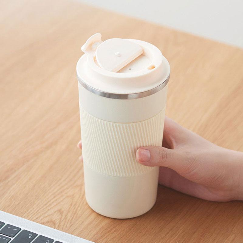 الشحن مخصص النقش مانعة للتسرب 316 مكنسة من الفولاذ المقاوم للصدأ قارورة القهوة كوب 500 مللي المحمولة سيارة الترمس كوب (مج) للقهوة في السفر