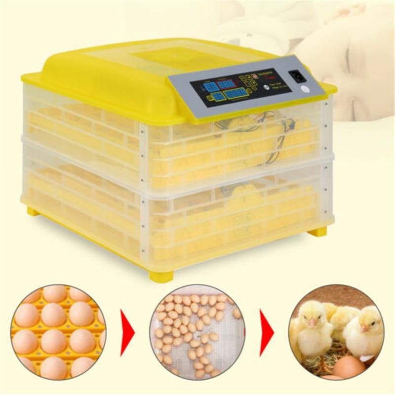 112 حاضنة البيض السيارات تورنر حاضنة LED عرض درجة الحرارة التجارية ترموستات التحكم عن مزرعة المنزل الدجاج