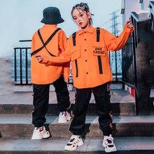Children'S Hip-Hop Dance Clothes Long Sleeve Shirt Black Pants Hiphop Catwalk Stage Outfits Jazz Str
