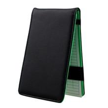 KOFULL PU Leather Golf Scorecard Cover Holder Multicolor Score Book Card Supplies Accessories Equipm