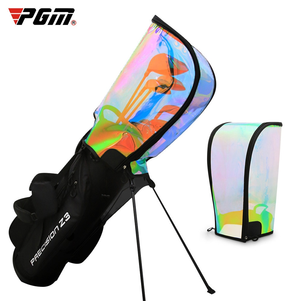 Golf Bag Cap Universal Transparent Colorful Ball Bag Cap Men And Women Transparent Ball Bag Cap Golf Bag Rain Cover Waterproof
