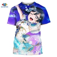sonspee 3d printed t shirt love live anime t shirt women harajuku short sleeve fun t shirt loli girl role playing game top tee