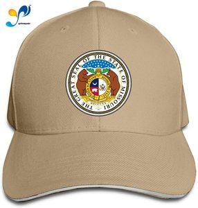 Seal of Missouri Sandwich Cap Man Womans Sun Hat Free Regulating