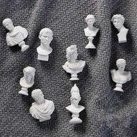 mini nordic nordic david head portraits greek mythology figurine art ornaments plaster bust statue gypsum
