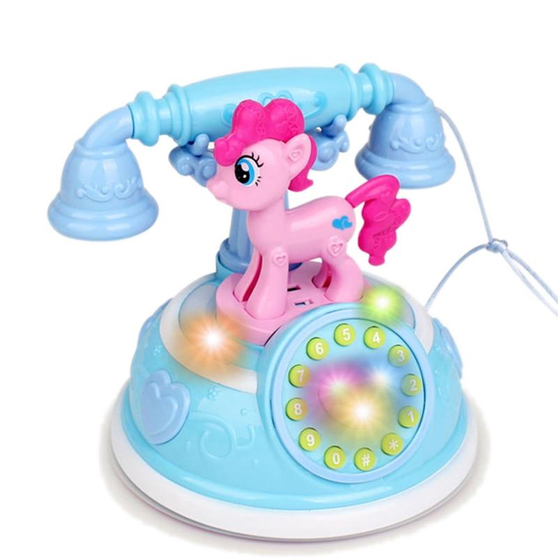 Ретро Дети телефон игрушка телефон раннее образование история машина для телефона эмулированный телефон игрушки для детей музыкальные игр...