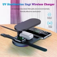 fast 6 in 1 wireless charger for iphone wireless charging dock station qi 10w for iphone x xs max xr 8 air pods