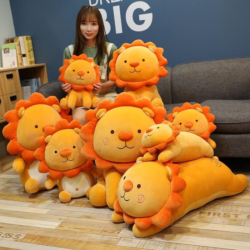 Variety of Lions Plush Toys Soft Stuffed Cartoon Animal Sun Lion Doll Nap Pillow Home Decor High Quality Birthday Gift For Kids