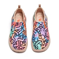 uin womens casual loafers painted walking slip on lightweight comfortable canvas fashion sneakers travel shoes graffiti series