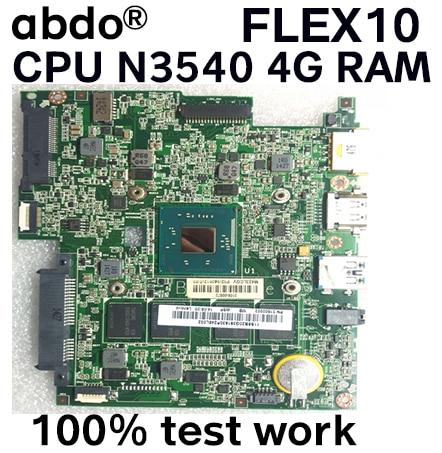 Abdo BM5338 материнская плата для FLEX10 FLEX 10 Материнская плата ноутбука 5B20G94327 CPU N3540 4G RAM 100% тестовая работа
