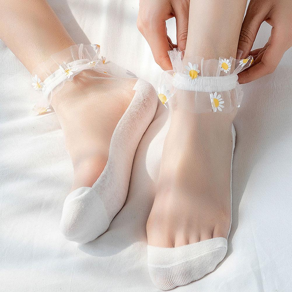 Fashion Harajuku Ankle Socks Lace Cute Kawaii Calcetines Women Sokken Femme Chaussette Designer Socks Short Sock Meias Ladi Z2K4 недорого