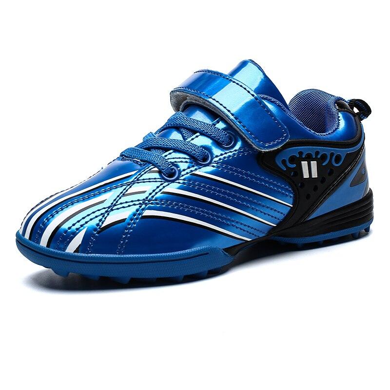 Nouveau Cool enfants sport chaussures de Football imperméables tf Anti-glissant garçons fille formateurs enfants sport chaussures de formation or baskets