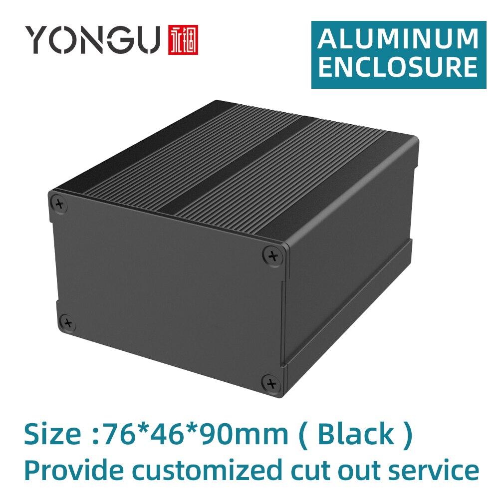 مزود الطاقة بحاوية ألومنيوم ، صندوق كهربائي ، خيوط مدمجة لتثبيت PCB H09 76*46 مللي متر
