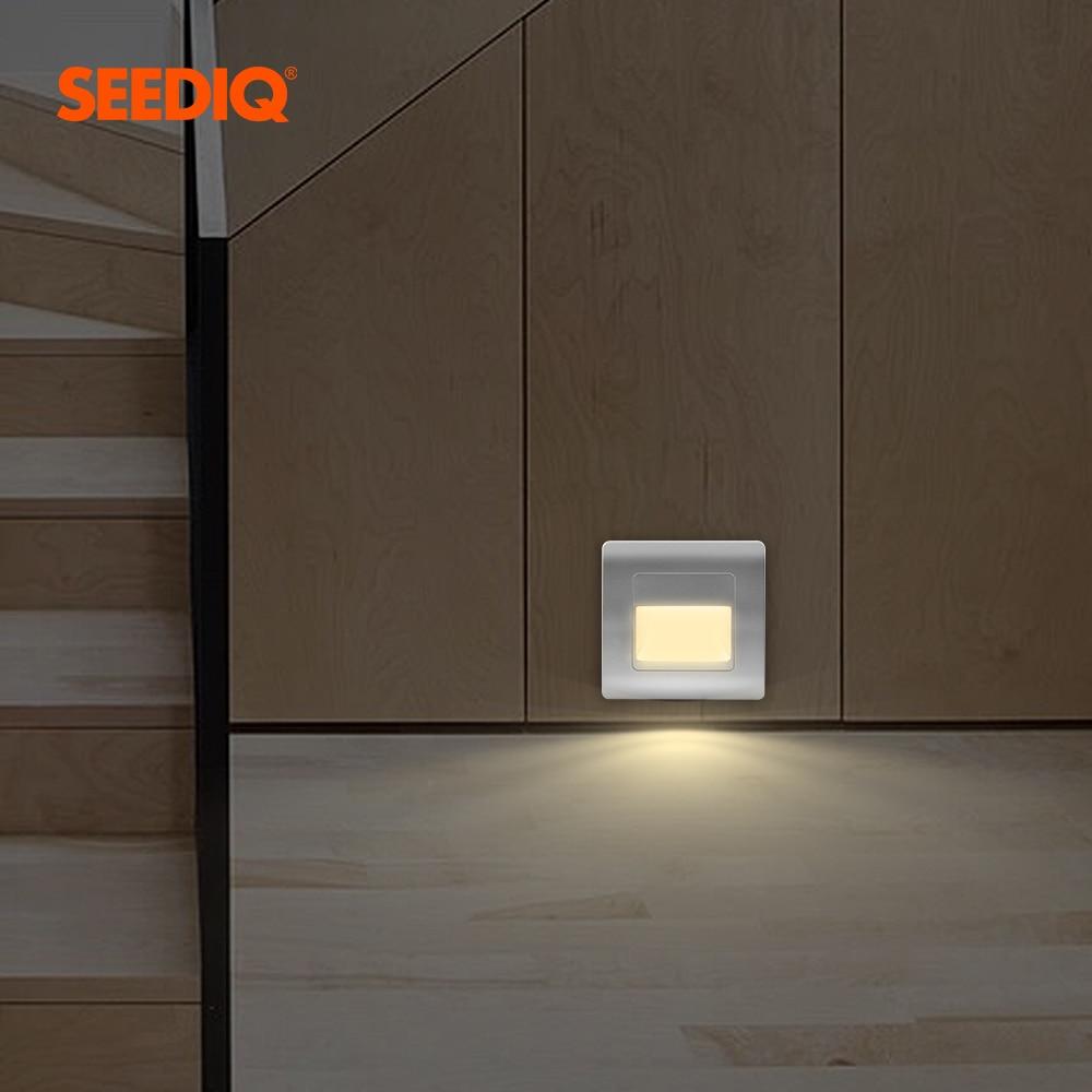 Встраиваемый настенный светодиодный светильник с PIR-индикатором для лестницы, лампа для дома, коридора, AC85-265V настенная лампа для лестницы, ...