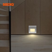 Recessed PIR Sensor Stairs LED Wall Lamp For Home Stairs Wall lighting Corridor Lamp AC85-265V Wall Stairs Lighting Sensor Lamp