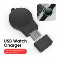 usb direct plug portable charger for samsung galaxy watch3 active2 smart watch charger fast charging cable dock charger power