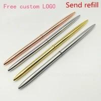 metal ballpoint pen retro pen for business writing gifts office school supplies free custom logo