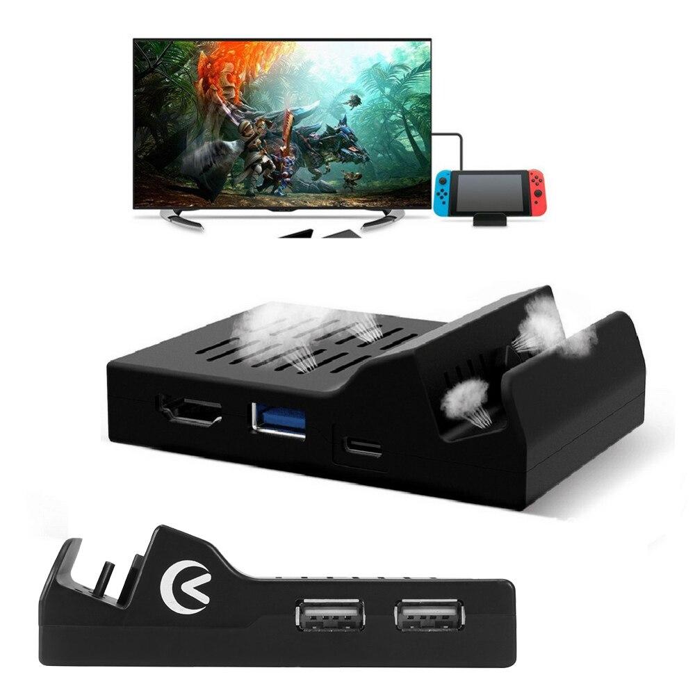 Портативный охлаждающий теплоотвод Тип C ТВ док-станция Поддержка 4K видео USB 3,0 HDMI выход док-станция для главного переключателя