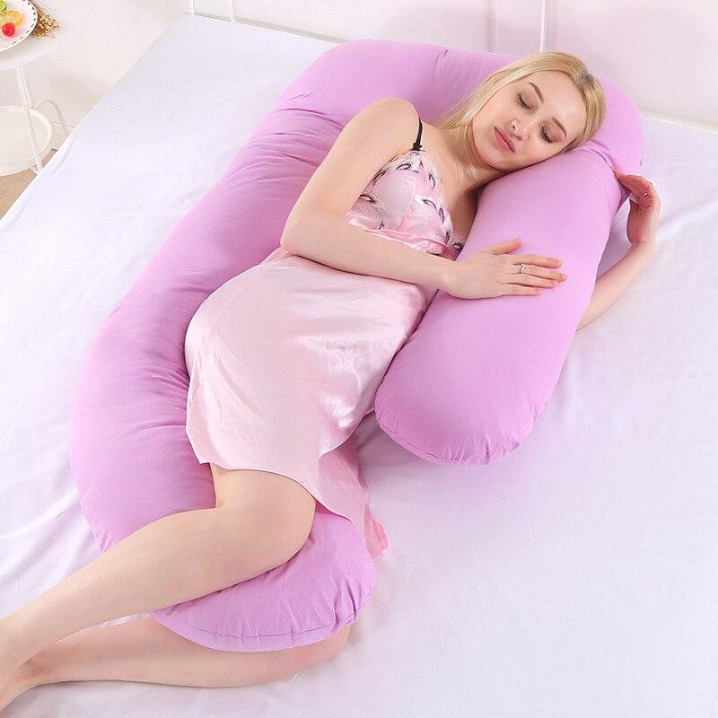 Almohada de durmiente lateral multifuncional para mujeres embarazadas, ropa de cama de...
