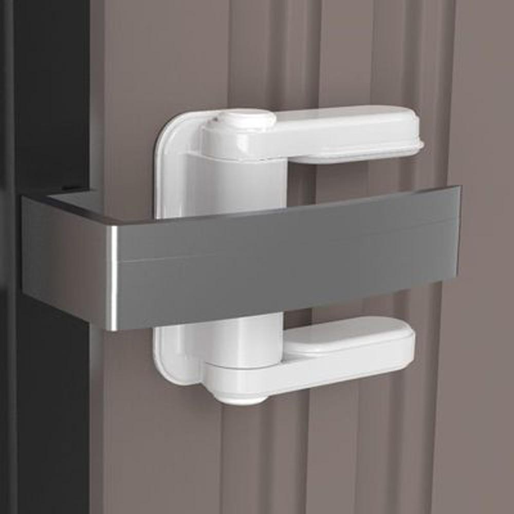 Фото - Детский дверной замок для блокировки открывания двери, замок для безопасности детей, для предотвращения открывания дверей и окон, замки для... комплект креплений elementis для синхронного открывания сдвижных дверей вес двери до 50 кг