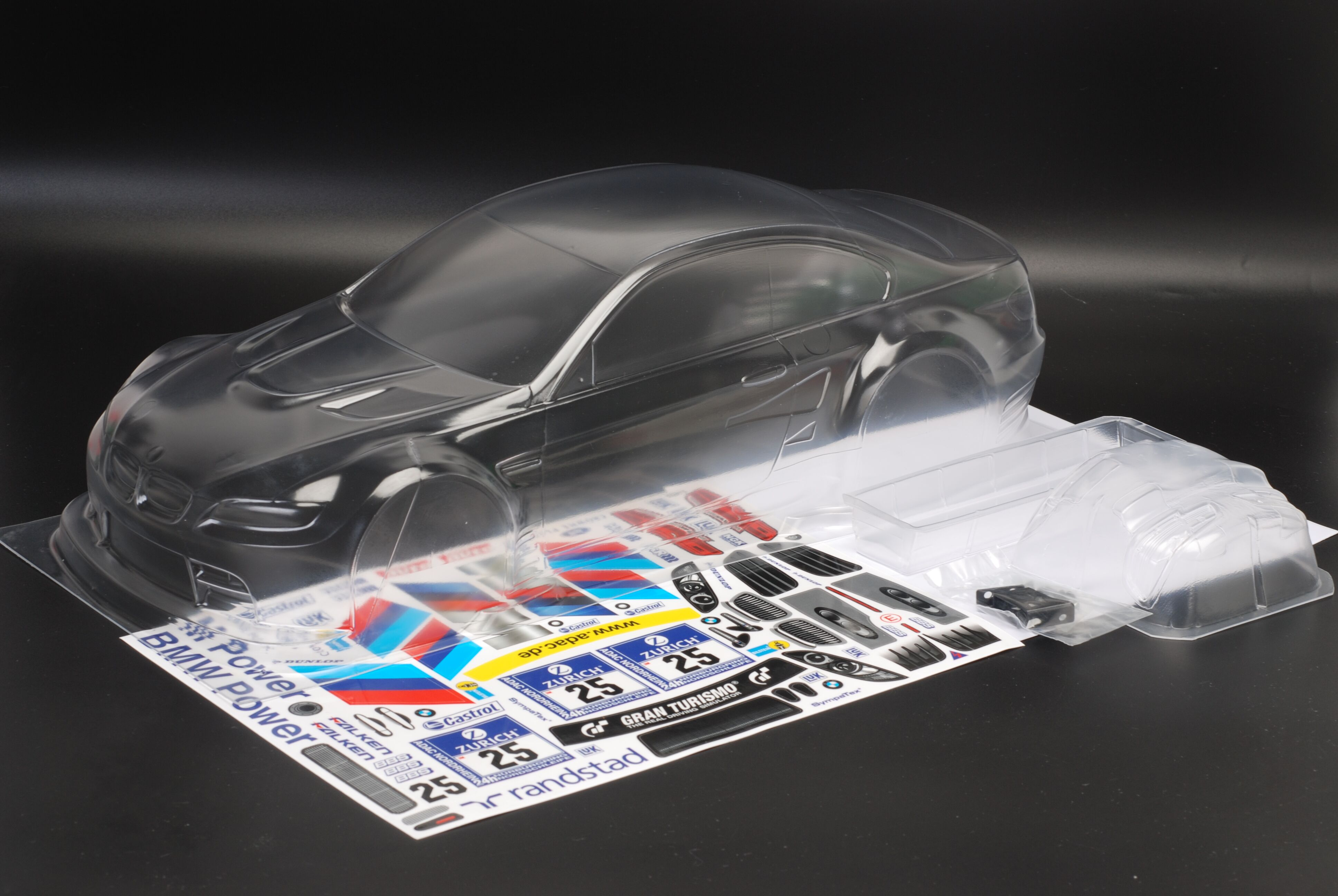 High quality 1/10 M3 GT2 RC PC Shell 190mm width Transparent clean no painted drift body RC for hsp mst yokomo Tamiya hpi enlarge