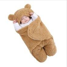 Baby Sleeping Bag Ultra-Soft Fluffy Fleece Newborn Receiving Blanket Infant Boys Girls ClothesSleeping Nursery Wrap Swaddling