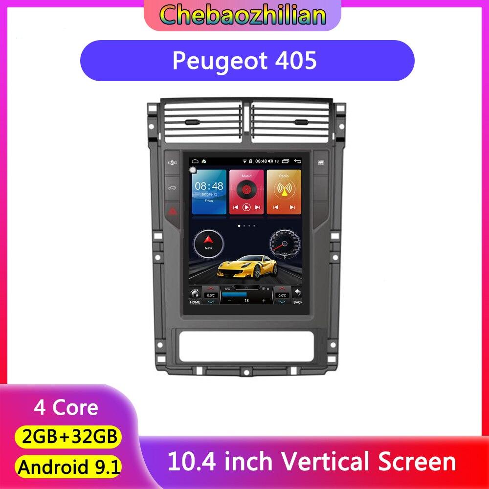 10,4 zoll Vertikale Bildschirm Android 9,1 Auto Radio multimedia player Für Peugeot 405 kopf einheit Stereo GPS Navi Unterstützung SWC