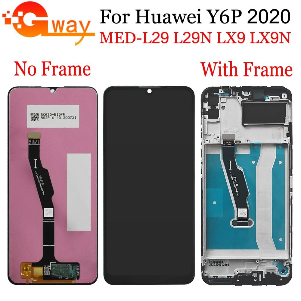 لهواوي Y6P 2020 MED-L29 MED-LX9 شاشة LCD تعمل باللمس مع الإطار الجمعية ل الشرف 9A MOA-LX9N LCD استبدال الهاتف