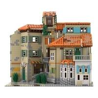 moc architecture italian style building blocks city edifice brick construction assemble toy modular model education gift for kid