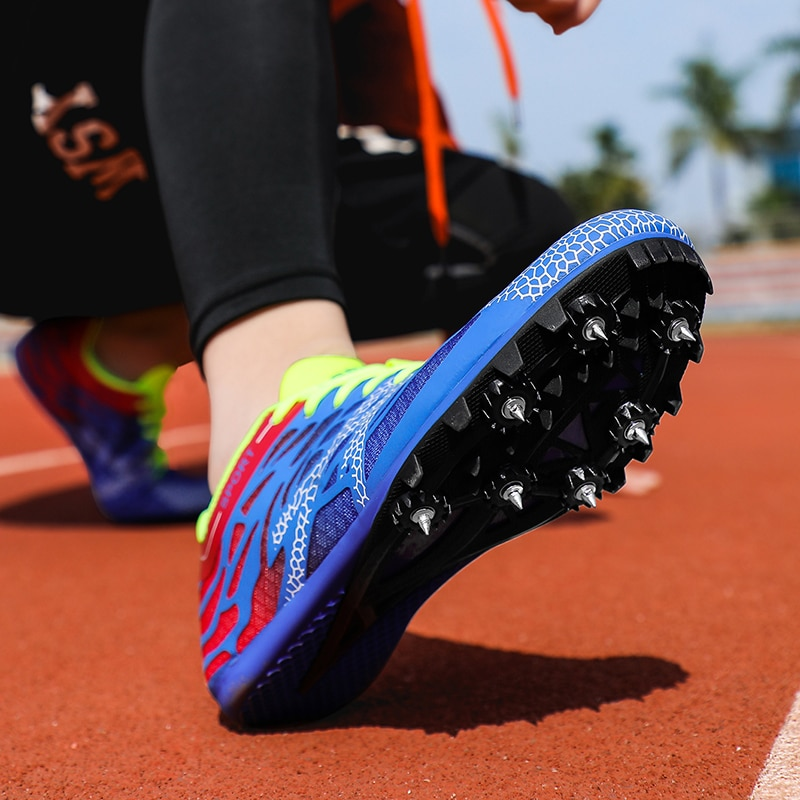 Men Women Spikes Sprint Shoes Professional Track and Field for Boys Girls Running with Sneakers