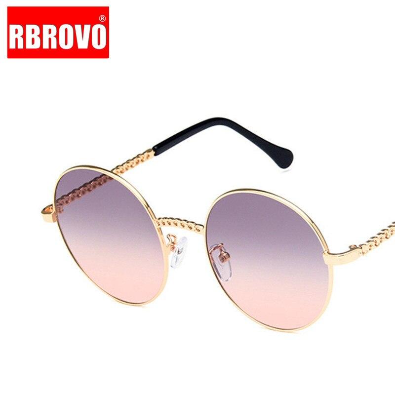 RBROVO 2019 New Alloy Gradient Sunglasses Women Round Small Frame Ocean Lens Sun Glasses For Men Lentes De Sol Mujer UV400