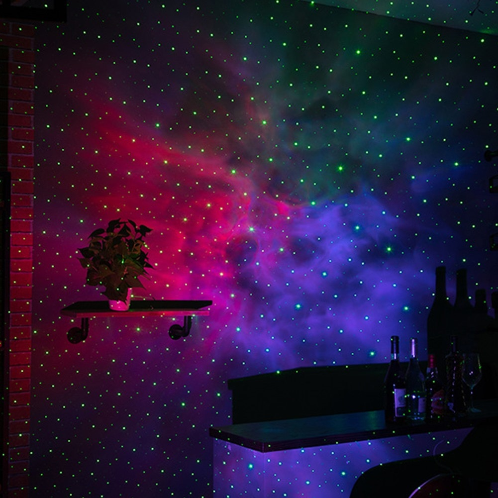 Aurora Star Galaxy Starry Sky LED Projector Lamp Rotating Night Light Colorful Nebula Cloud Lamp Atmospher Bedroom Beside Lamp enlarge