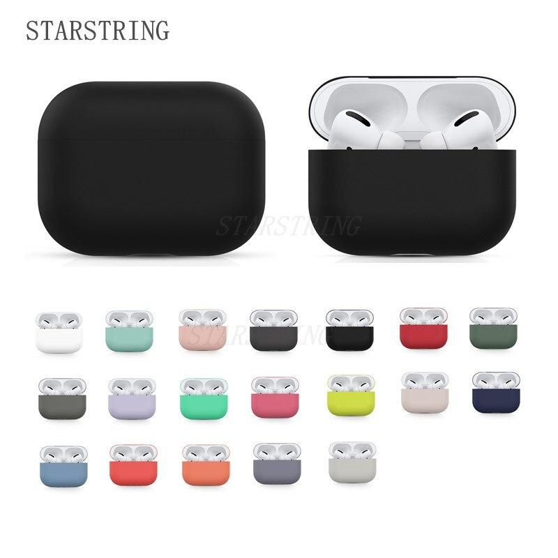 Оригинальный чехол для Apple Airpods Pro, чехол для беспроводных Bluetooth наушников, мягкий силиконовый милый чехол конфетных цветов в коробке, чехол д... чехол