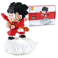 2021 new diamond blocks japan anime dragon heros micro 3d model series mini bricks figures toys bricks gifts