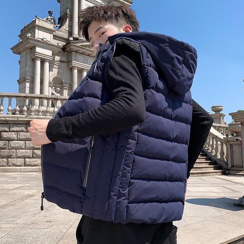 Осень-зима Жилеты мужские новые стильные мужские жилеты размера плюс теплая безрукавка для девочек; Кожаная куртка для мужчин зимний жилет ...