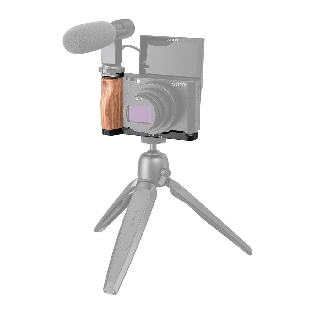 SmallRig RX100 M6 Camera Vlog L-Shaped Wooden Grip w/ Cold Shoe for Sony RX100 III/IV/V(VA)/VI/VII M5 / M4 Camera 2438 enlarge