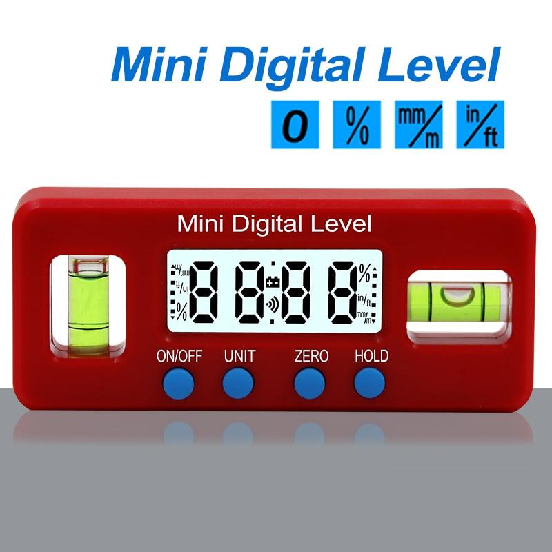 360 Degree Mini Digital Protractor Inclinometer Electronic Level Box Magnetic Base Measuring Tools Level Box Angle Gauge Meter