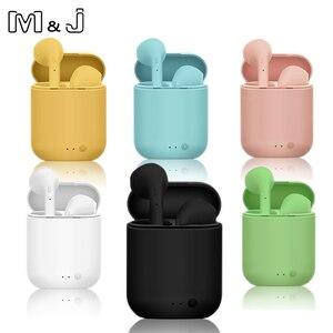 Беспроводные наушники M & J Tws i7 Mini 2, Bluetooth 5,0, Air наушники-вкладыши, гарнитура с зарядным устройством для iPhone, Xiaomi