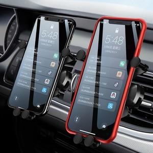 Image 2 - 10 Вт автомобильное беспроводное зарядное устройство для iPhone 12 11 Pro Max XS XR X Автомобильное гравитационное крепление для Samsung S21 Note 20 Ультра зарядное устройство держатель для телефона