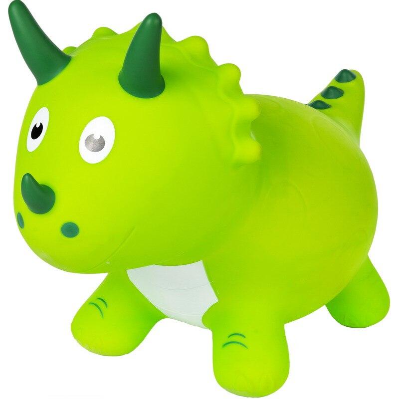Dinosaurio de juguete al aire libre juguete verde los niños animal inflable animal caballo de juguete caballo de salto juguete de goma de juguete
