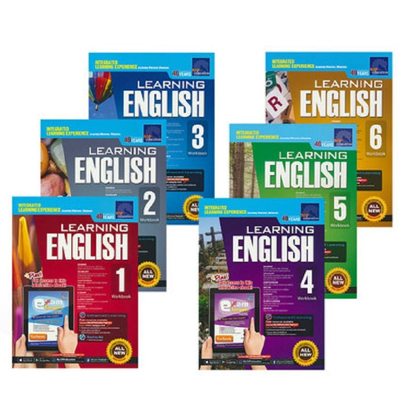 6 Books/Set SAP Learning English Workbook Grade 1-6 Children Learn English Books Singapore Primary School English Textbook New