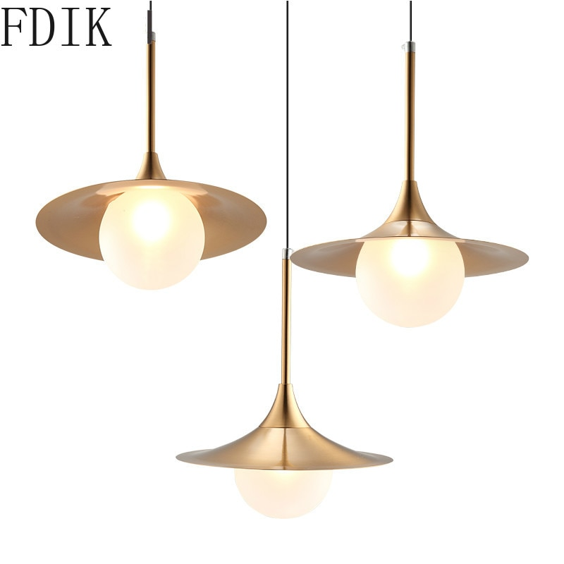 Luces colgantes Led G9 modernas lámparas colgantes de cristal lámparas de Metal dorado para dormitorio sala de estar cocina decoración del hogar lámpara luminaria