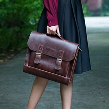 "Vintage Literary Women Handbag Casual 13.3"" Laptop Bag Dress OL Fashion Business Briefcase"