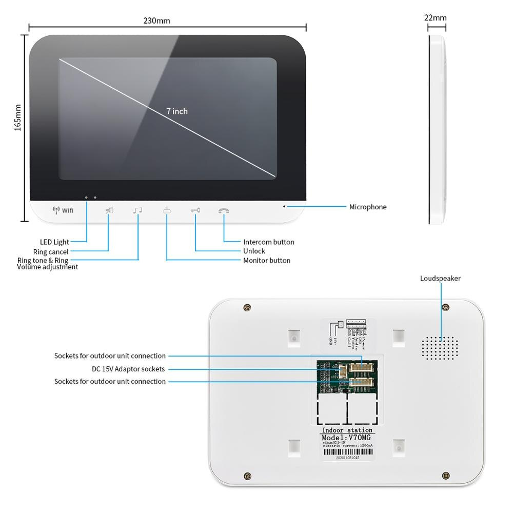 Mobile Phone app Remote Control Wifi Home Security Visual Intercom Smart IP Video Door Phone Support Multiple Intercom Door Bell enlarge