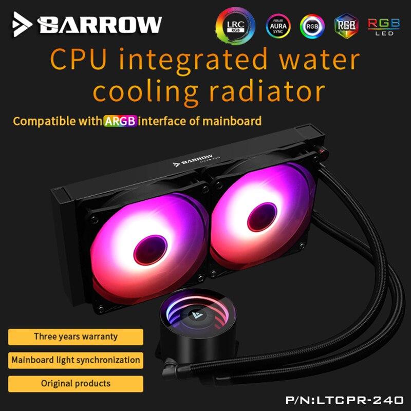 Barrow Acqua di Raffreddamento CPU Aio 240 millimetri/360 millimetri con 120 millimetri Pro RGB PWM Ventole Intel 115x/x99/X299, AMD Piattaforma Completa
