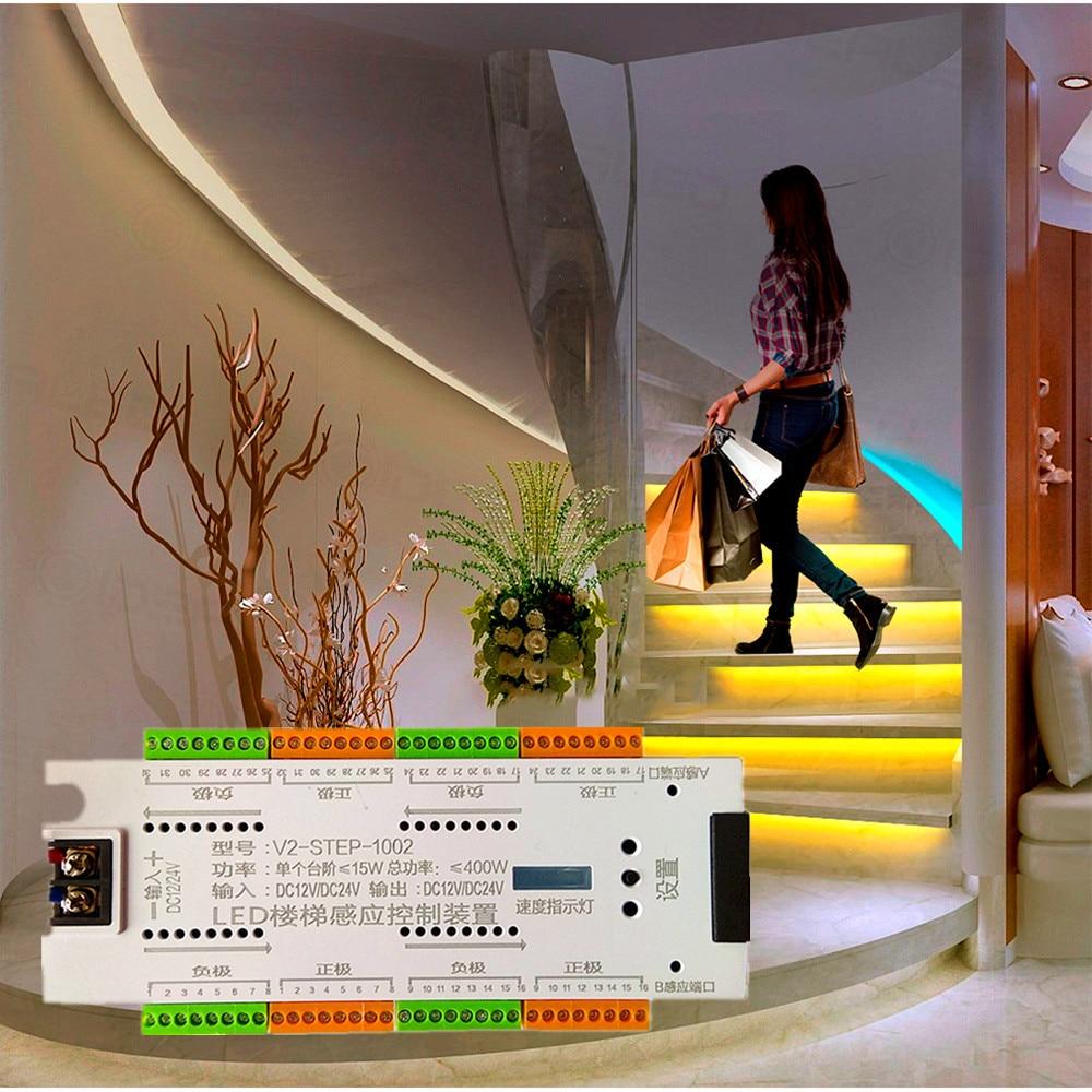 درج LED محس حركة ضوء تحكم 32 قناة PIR يعتم تحكم عن داخلي حركة ضوء الليل 12 فولت/24 فولت LED قطاع ضوء